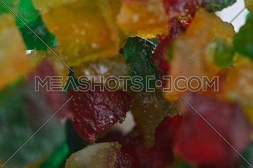 colorful turkish delights close up