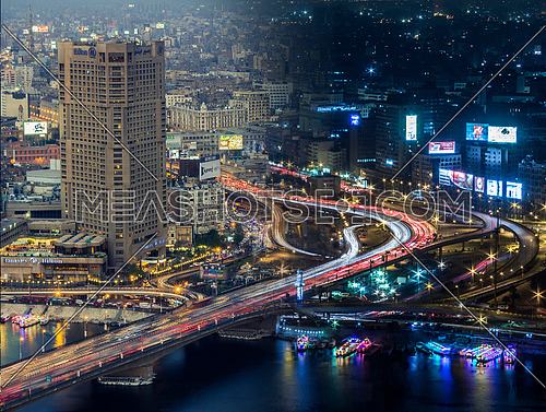 Long Shot for Cairo City showing 6th of October bridge