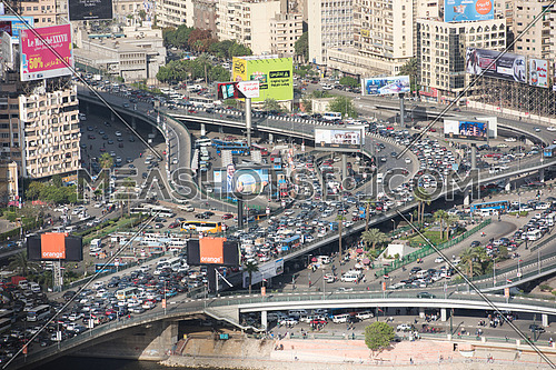 cairo downtown traffic jam in rush hour
