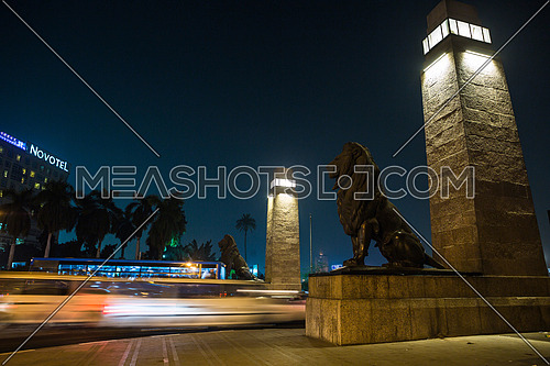 Side Shot for Qasr Al Nile Bridge at Night