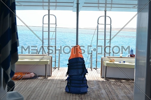 Life Jacket on a boat