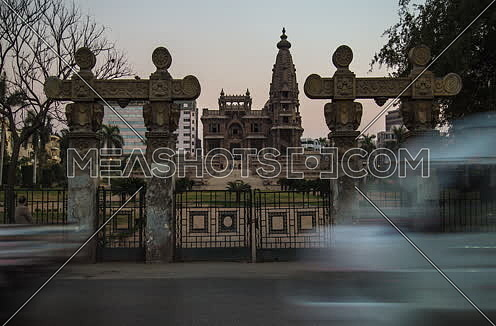 Track Right Shot for Le Baron Palace at Salah Salim Street from Day to Night