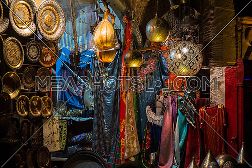 Antique shop on Gothic streets of Egypt