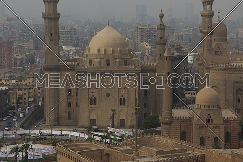 View from Salah el Din Castle , looking at Sultan Hassan & El Refaghie Mosques
