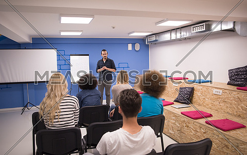 Young Speaker Seminar Corporate Business Meeting Concept