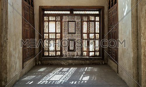Interleaved wooden window (Mashrabiya), Medieval Cairo, Egypt