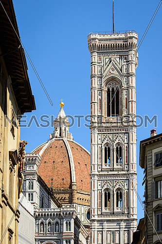 In the picture the cathedral of Florence and the Tower of Giotto.