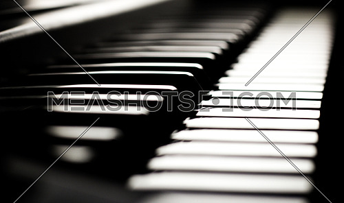 Piano keyboard keys light
