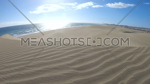 Windy Sand Desert by the ocean