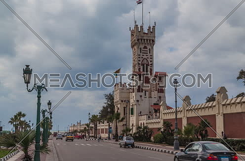 fixed shot for Montazah Palace Gate at Alexandria at Day