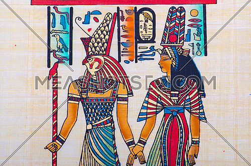 Fragment of egyptian papyrus