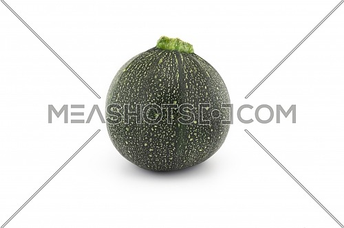 Green round courgette or zucchini isolated on white background