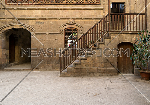 A courtyard of Zeinab Khatoun house, a historic house in Old Cairo, Egypt