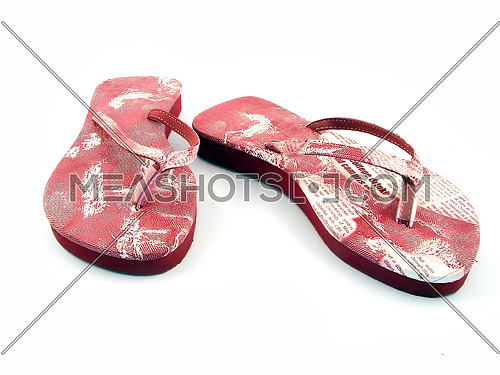 woman shoe for summer and beach isolated on white bacground