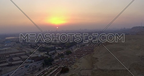 Reveal Shot for Cairo city at sunset
