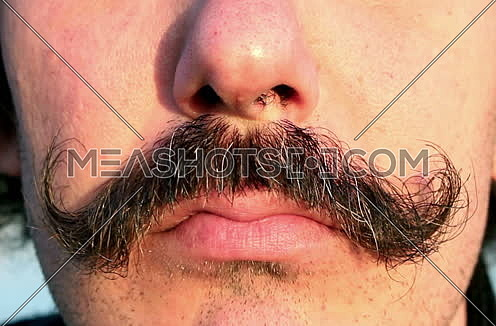 Mustaches Of a Man and happy face