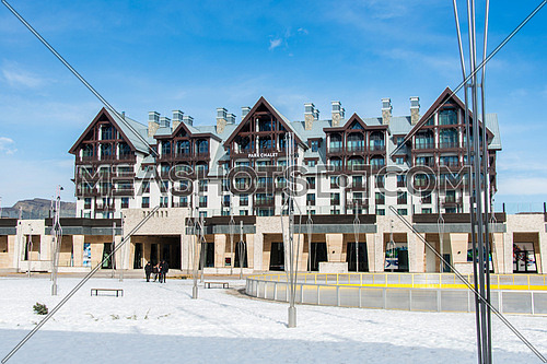 Shahdag - FEBRUARY 8, 2015: Tourist Hotels  on February 8 in Azerbaijan, Shahdag. Shahdag has become a popular tourist destination for skiing in Azerbaijan.