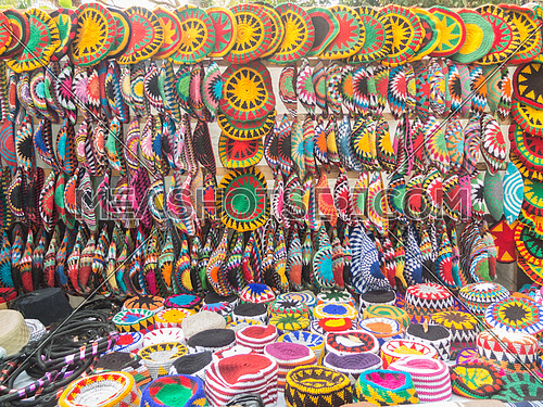 Colourful handmade hats - Aswan