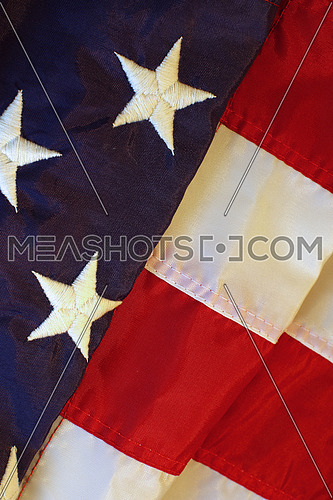 Folded american flag background