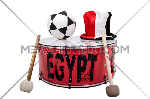 Drum, Cap and Flag are used in cheerleading football matches