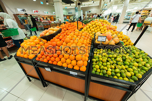 Dubai - AUGUST 8, 2014: Dubai Supermarket Waitrose on August 8 in Dubai, UAE. Dubai Supermarket Waitrose is the largest supermarket in Dubai