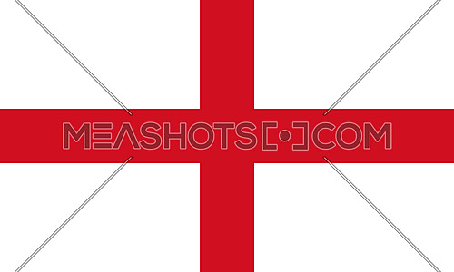 Flag of England. St George's Cross 3D illustration