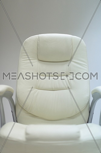 modern white office chair furiniture in empty startup business space