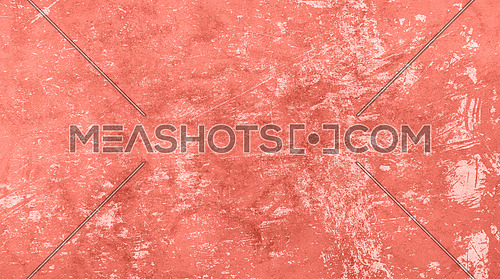 Coral pink color toned grunge old vintage dirty distressed texture background with uneven noise