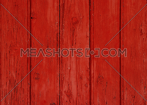 Close up background texture of red vintage painted wooden planks, rustic style wall panel