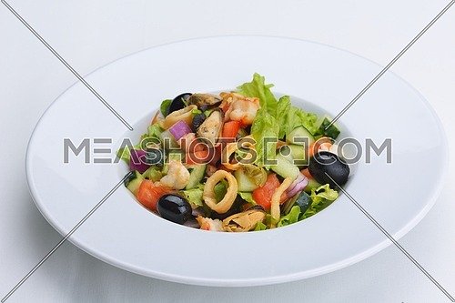 fresh organic eco vegetable salad,close-up isolated on white