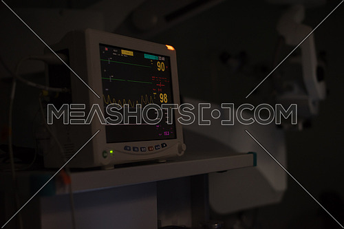 monitor in operating room at the large modern clinic