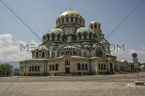 St. Alexander Nevsky Cathedral in the center of Sofia, capital of Bulgaria