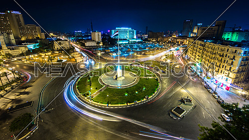 Long night exposure of Tahrir Square