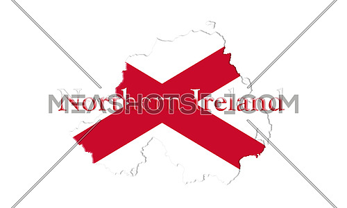 Northern Ireland Flag 3D illustration