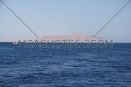 Tiran island from sharm el sheikh city , Egypt, red sea