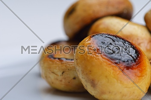 mashroom food vegetable grilled isolated on white background