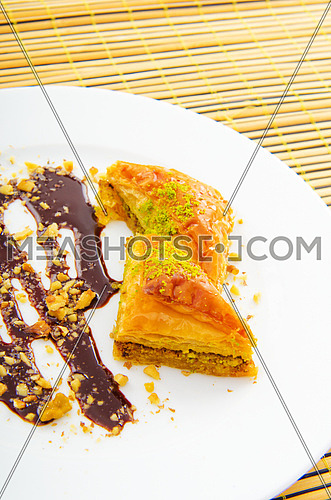 Traditional turkish sweet dessert