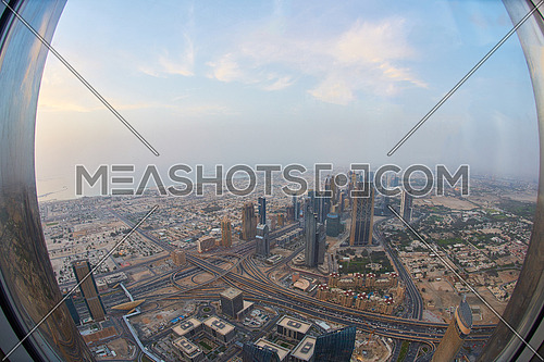 downtown city, cityscape of Dubai, United Arab Emirates, modern futuristic architecture daytime,  luxury traveling concept