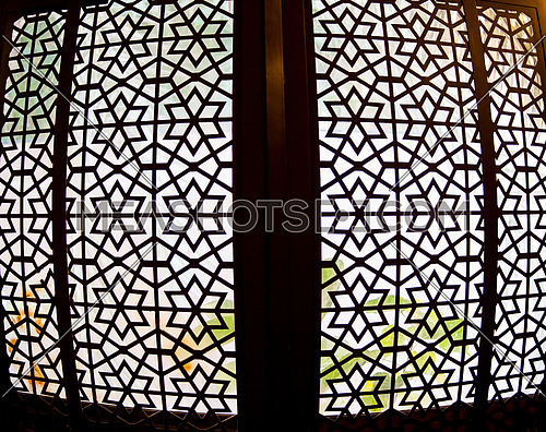 abstract arabesque window design