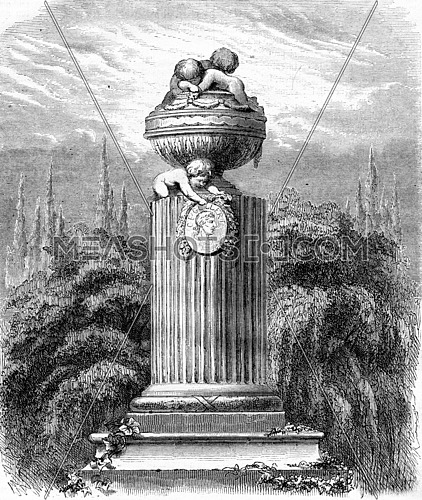 xxxxx. From Magasin Pittoresque, vintage engraving, 1867.
