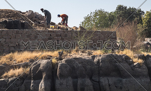 people working in Nile farm - aswan