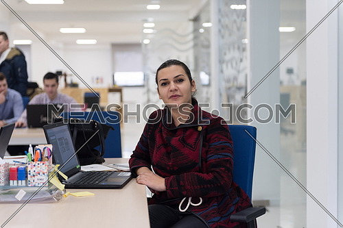 startup business, woman  working on laptop computer at modern office