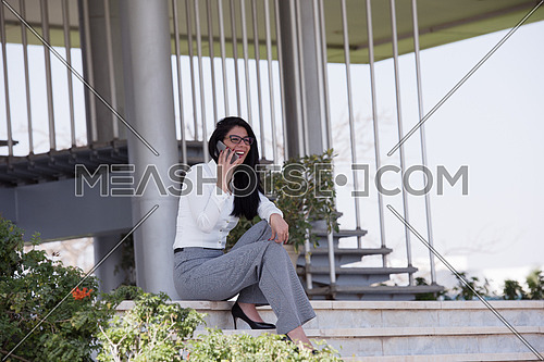 young business woman making phone call