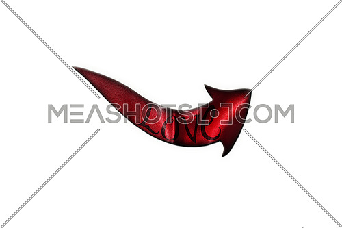 Love Concept. Arrow With Love Written On It Showing The Way Isolated On White Background 3D illustration