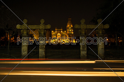 Long Shot for Le Baron Palace at Salah Salim Street from Day to Night