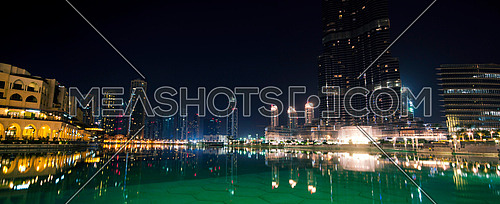 Dubai panorama view at night time