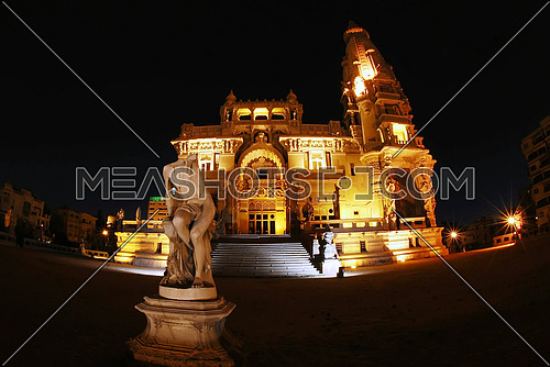 Baron Imban Palace is a historic palace inspired by Indian architecture built by the Belgian millionaire Baron Edward Imban on July 22, 1929. The palace is located in the heart of Heliopolis in Cairo, on Al Orouba street on the main road leading to Cairo International Airport This image was taken on March 23, 2010