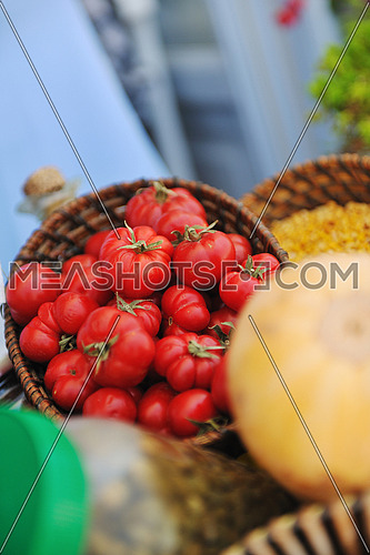fresh bio organic vegetables food outdoor in market