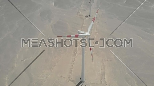 Wind Mills by the road in the Red Sea region