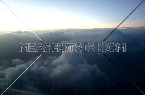 Long shot for clouds at day from Airplane view